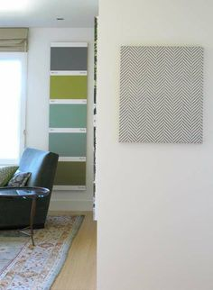 "Large ""Paint Swatch"" wall hanging. @Sherry @ Young House Love, this made me think of you!"