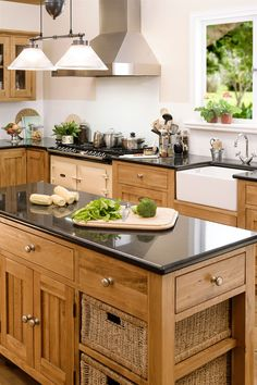 #aplacecalledhome   .. My bespoke oak kitchen, complete with 'Aga'!  .. traditional, yet contemporary, with granite worktops, to make my famous huge Yorkshire puds ! lol