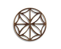 Vintaj Natural Brass Stained Glass Window 28mm