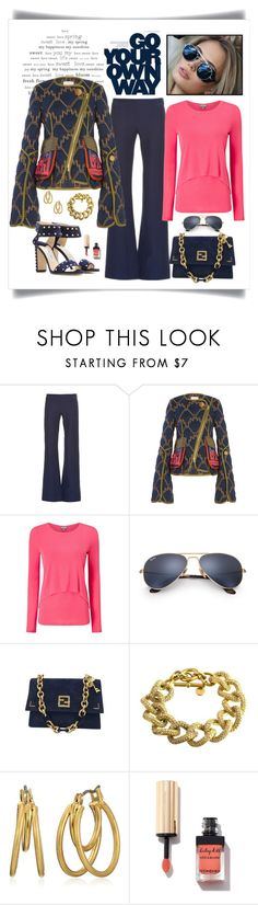 """""""Peter Pilotto Quilted Jacket Look"""" by romaboots-1 ❤ liked on Polyvore featuring Derek Lam, Peter Pilotto, Phase Eight, Ray-Ban, Fendi, Michael Kors, Kenneth Cole and Jimmy Choo"""