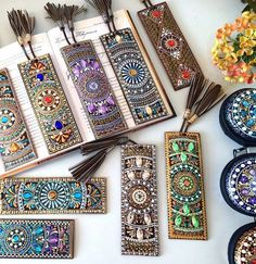 Items similar to Perfect gift Leather Bookmark, Leather bookmarks, Gift Lovers reading, Literary Tassel Bookmarks, Unique Bookmark Gift Thanksgiving on Etsy - Diy Bookmarks, Leather Bookmarks, Crochet Bookmarks, Dot Art Painting, Mandala Painting, Mandala Dots, Mandala Design, Tassel Bookmark, Felt Bookmark