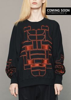 59cfa3d8f96ee SWEATER OVERSIZE - COTTON black with embroidery