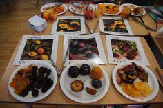 Learning all about different varieties of plums in the LA pilot of our 'Learn Your Fruit and Vegetables' program.