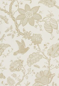 Wallcovering / Wallpaper | Bali Vine in Sandstone | Schumacher