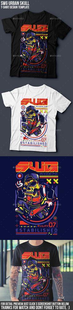 SWG Urban Skull T-Shirt Design