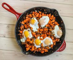 This breakfast-y meal is a favorite of mine. Not only perfect in the morning, but it is also as a quick dinner. Its hearty, fairly healthy and extremely tasty.