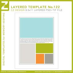 Cathy Zielske's Layered Template No. 122 - Digital Scrapbooking Templates