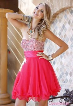 hot selling #homecoming #dress pink homecoming dress strapless homecoming dress short homecoming dress find more women fashion ideas on www.misspool.com
