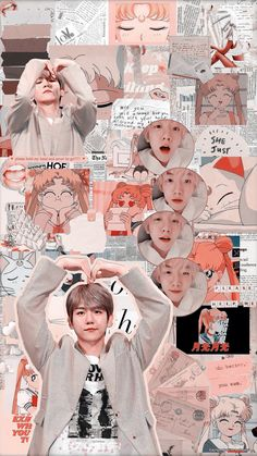 baekhyun and sailor moon. Exo Kokobop, Kpop Exo, Exo Chanyeol, Kai, Chanbaek, Kris Wu, Exo Stickers, Chen, Exo Anime