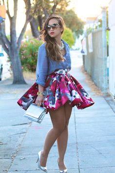 KTR Mini Garden Party Skirt - KTRcollection