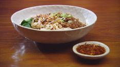Dan Dan Noodles Pickled Mustard Greens, Masterchef Recipes, Pork Mince, Sesame Sauce, Winter Dishes, Duck Sauce, Pasta Machine, Fried Pork, Hoisin Sauce