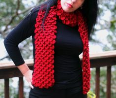 CROCHET PATTERN: Crocodile Stitch Neckwarmer - Permission to Sell Finished Product by bonitapatterns on Etsy https://www.etsy.com/listing/86629422/crochet-pattern-crocodile-stitch