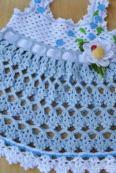 Beautiful Blue Top free crochet graph pattern