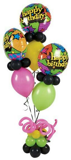 Balloon Bouquet Delivery Happy Birthday Balloons Qualatex