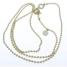 Modeschmuck Online Shop - SENCE Copenhagen Essential neck worn vergoldet 90cm SENK121
