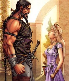"Khal Drogo and Daenerys Targaryen (""Game of Thrones"")"
