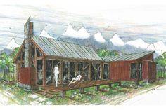Cottage Style House Plan - 2 Beds 1 Baths 877 Sq/Ft Plan #426-16 Exterior - Front Elevation - Houseplans.com