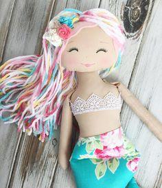 Beautiful SpunCandy Mermaid #spuncandydolls #mermaiddoll #handmadedoll