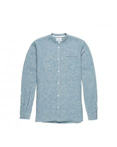 Norse Projects Benno Grandad Linen Chambray