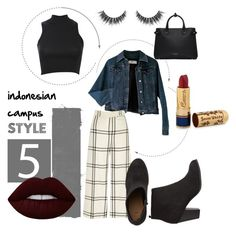 """INDONESIAN CAMPUS #5"" by kenanidhyaip on Polyvore featuring Moschino, Pilot, River Island, Lime Crime, Burberry and Bésame"