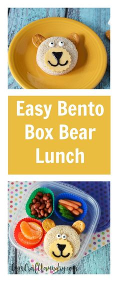 Easy Bento Box Healthy School Lunch Idea for Kids Healthy School Lunch: Bento Box Bear. Make this adorable school lunch for your kids! Healthy Packed Lunches, Healthy School Snacks, Healthy Kids, Work Lunches, Bag Lunches, Bento Box Lunch, Lunch Snacks, Kid Snacks, Lunch Boxes