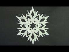 Paper snowflake 1 - Detailed tutorial - Beginner level - Can YOU do it? - YouTube