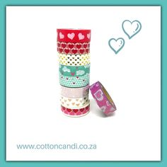 Stock up for Valentine with these gorgeous heart themed washi tape Washi Tape, Heart, Cotton, Hearts