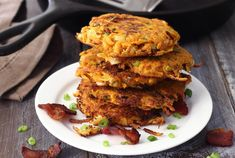 An awesome side to any breakfast, these quick and easy sweet potato fritters with bacon are simple to make. Serve with eggs for a wholesome paleo breakfast!