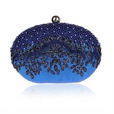 Bling Bean Shape Pearls Rhinstone Wallet Hard Case Crossbody Bag Costume Ball... * Details can be found at