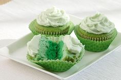 Green Ombre Cupcakes for St. Patrick's Day!