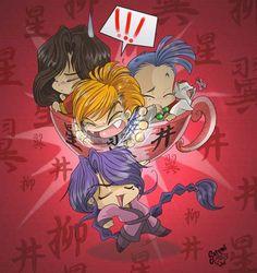 yup, they are in a tea cup! fear the tea cup. i do wonder where he got that cup! O_o in da cup --- Hotohori,Tasuki,Chichiri and Tama. warriors in a cup Cute Chibi, Yuu, Anime Love, Anime Art, Mystery, Fan Art, Deviantart, Manga, My Favorite Things
