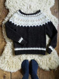 """""""So in peace our task we ply, Pangur Bán, my cat, and I…"""" – Ways of Wood Folk Cardigan Pattern, Knit Cardigan, Fair Isle Knitting, Hand Knitting, Icelandic Sweaters, Nordic Sweater, Knit Basket, Christmas Knitting, Knitting Designs"""