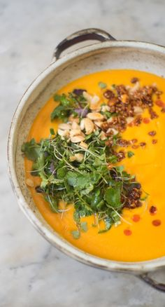 A simple carrot soup recipe. Perfect for cold nights!