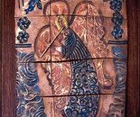 Harmony Angel (with flute) - Ceramic Mural by Ana Caravias