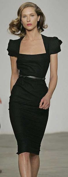 I love the neckline and sleeves. One black dress is never enough!