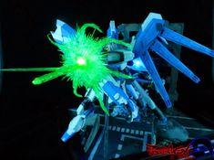 MC Model 1/144 nu and Hi-nu Gundam (Gundoom) with Customized Effects and LED Diorama   via MC Model Facebook     Amazing effects! I really ...