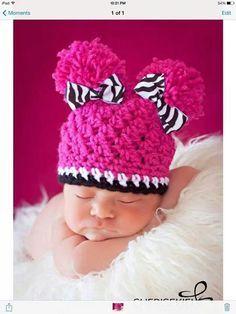 Pink, Black, & White Hat
