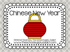 Chinese New Year Pin Board by The School Supply Addict