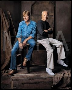 Paul Newman & Robert Redford  photo by Mark Seliger