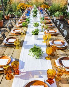 colorful summer party dinner table setting from our Urban Farm Dinner Series, featuring locally-sourced, farm-to-table dishes in the heart of our urban garden. Attend a 2020 dinner - tickets available via link below. Dinner Party Table, Wedding Dinner, Dinner Menu, Summer Parties, Backyard Parties, Garden Table, Urban Farming, Table Settings, Table Decorations