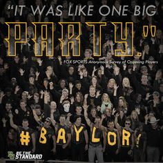 Last year's #Baylor-OU blackout game. Let's make this year's even more fun. #SicEm #EveryoneInBlack