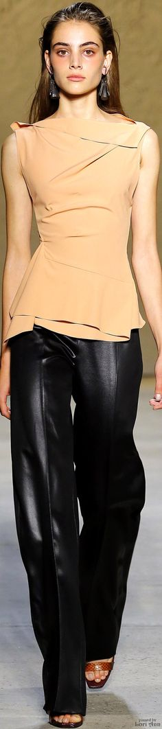 Narciso Rodriguez Spring 2016 RTW women fashion outfit clothing stylish apparel @roressclothes closet ideas