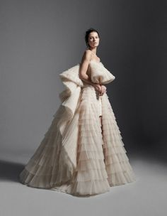 Atelier Krikor Jabotian takes pride in its refined craftsmanship and use of opulent fabrics to create a timeless message of heritage, style, tradition and innovation. Dior Wedding Dresses, Wedding Dress Sketches, Cute Prom Dresses, Glam Dresses, Couture Dresses, Designer Wedding Dresses, Claire Danes Dress, Krikor Jabotian, Cinderella Wedding