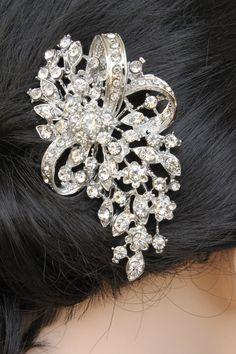 Rhinestone Bridal Hair Comb bridal hair piece a by annapanik, $25.00