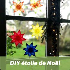 Bricolage de Noël, fabriquez une étoile en papier vitrail avec vos enfants. La touche finale de votre décoration. Diy, Gift Wrapping, Frame, Gifts, Home Decor, Vintage Christmas, Bricolage Noel, Gift Ideas, Children