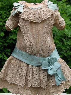 Antique cotton lace dress BullDoll Clothes for dolls