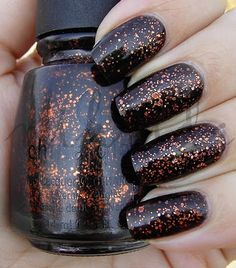 China Glaze Fortune Teller China Glaze Nail Polish, Black Nail Polish, Fortune Teller, Halloween Nails, Cute Nails, Holiday Crafts, Manicure, Hair Beauty, Nail Art