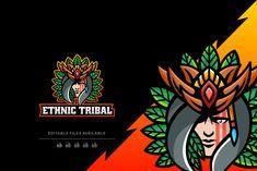 Ethnic Tribal Simple Mascot Logo by Artnivora.Std on @creativemarket