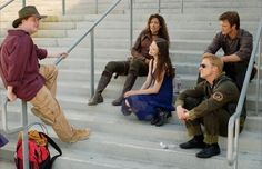{on the set of Serenity} with boss Joss Whedon :)