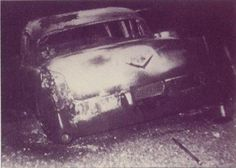 ♡♥Elvis Presley's first cadillac burned up on June 5th,1955. About half way to Texarkana,Texas from a Hope,AR 'Fair Park' concert a wheel bearing caught fire and the pink cadillac burned up. Elvis Presley had this car for a little more than two months. Scotty and Bill gave him a hard time as the instruments and clothing sat forlornly by the side of the road but then there was business to be taken care of as they had to charter a plane to get to the next show in Dallas,Texas♥♡